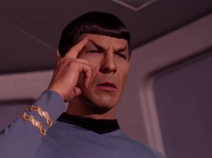 Did they make Spock think he's Cyclops?