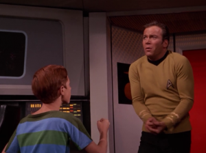 They make Kirk think that he lost command of Enterprise.
