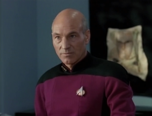 Picard explains that humans need to grieve, and they won't be satisfied by a fantasy