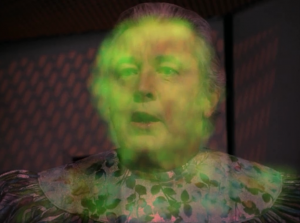 Kirk overcomes the manipulation and gets the glowey man to come back