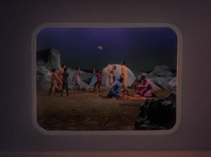Kirk shows the kids a video of all the good times they had with their parents, and then their dead bodies