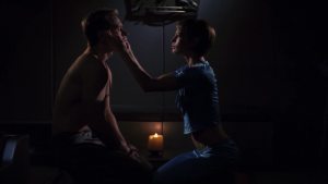 In order for T'Pol to touch Trip's face, he has to take off his shirt