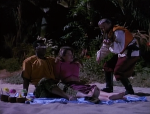 Geordi goes on a really awkward date. This guy is playing really close to them