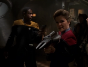 Janeway and Tuvok come to the rescue!