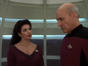 She left behind a son, who also lost his father. Troi helps Picard prepare to talk to the boy