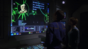 They look at the Xindi data they got from the last episode. All it tells them is nformation on one of the other xindi species and a planet where some Xindi visited once. So they go to the planet