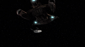 The pirates come back. Enterprise is too damaged by anomalies to put up much of a fight