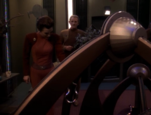 Odo has quarters now. He fills it with crazy looking stuff to mimic.