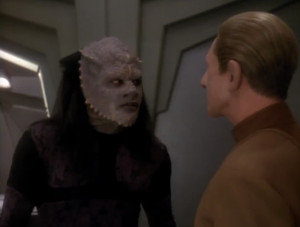 The writers explore the genetically implanted instincts in the Jem'Hadar.