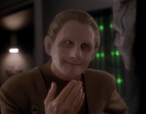 Odo tries to teach him to be nice, and fight his instincts