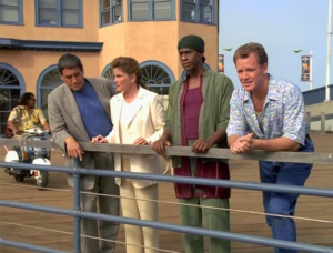 So they end up in 1996. Despite having seen strange aliens and whatnot, people with mohawks blow their minds. And why is Tuvok dressed like that. Did people dress like that in 1996?