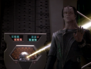 Dukat got a automatic signal from the station and can shut everything down. He wants to negotiate for it though. He wants a Cardassian presence on the station