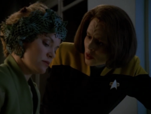 At the end one of the alien ladies is willing to telepathically share B'Elanna's dreams