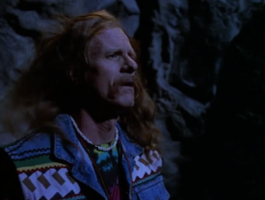 The episode starts off with a goofy looking hippie. I hope this guy isn't the villain or something