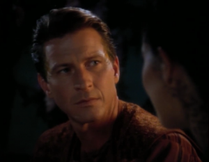 This guy says that he wants to leave the planet and be with Dax, but then he realizes that's a horrible idea, so now Dax is going to stay with him on his dimension-shifting planet