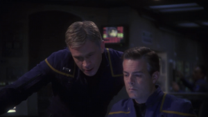 Trip mentions that they got a shield upgrade from general Shran