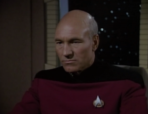 ...but Picard doesn't convince him. And then he gets word that the Romulan died. Dang