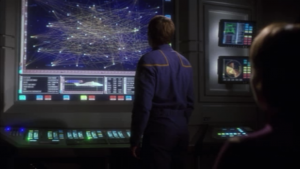 While Archer and Trip were on their stupid mission, T'Pol figured out something useful. There are tons of spheres!