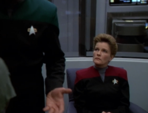 The Doctor figures out an explanation of what happened, but Janeway seems put off by the Doctor trying to find a scientific explanation. I guess the lesson is just that belief is really fun, and don't ruin it with scientific explanation