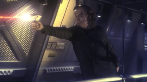 Phlox shoots a phaser! But then he dies. And so does T'Pol. Why not, it's not like we buy any of this will stick