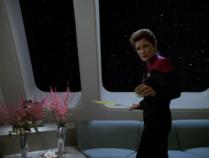 We find out Janeway played tennis