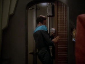 An old Cardassian secure measure is set off and traps everyone