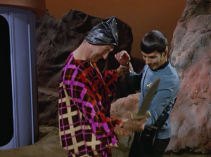 Sometimes I think it would be hard to make dumber looking costumes than what they have people wear in Star Trek
