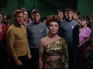 """Kirk, Bones and Spock are captured and taken to see """"the oracle"""""""