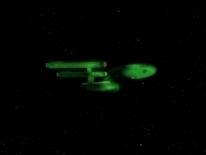 The Defiant disappears with Kirk on board