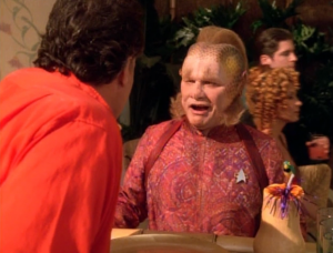 Why is Neelix working on the holodeck?