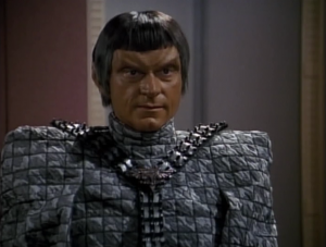 A lot of the episode is Picard and the crew trying to figure out if this Romulan is a real defector or a spy