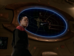 Sisko gives the Cardassians some pointers on how to destroy the Defiant