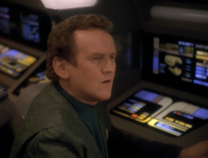 O'Brien tries to call the federation but they don't exist! History has been changed! But there's some kind of bubble around the Defiant making it so it wasn't changed whatever