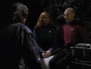 They manage to teleport away with Picard