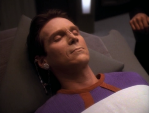Bashir chooses to not make him full weirdo with another positronic implant, and instead lets him die