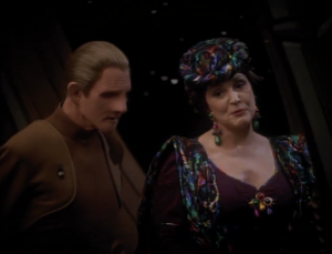 Lwaxana says she knows that Odo likes Kira