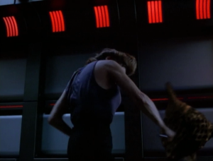 Then Janeway stabs one!