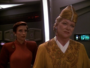 Winn needs Bareils help with negotiating with the Cardassians because she doesn't know what the heck she's doin
