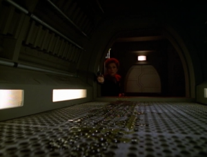 Janeway leaves Neelix for a minute to get a medkit, and Neelix disappears. Hey, this episode is getting pretty good