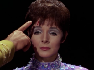 Gem can transfer wounds from other people to her, as Kirk is helpfully pointing out