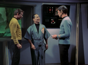 Kirk and Spock beam to a facility where people are kept with mental issues. The building is surrounding by a shield and is on a planet where all the air is poisonous