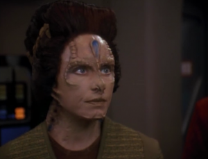 This Cardassian works for the Obsidian order and she sabotaged things