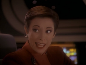 Odo gets mad at Kira for not asking him about the dinner parties