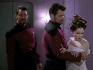 The married lady tells her version of what happened. She says Riker was the one hitting on her and Riker punched her husband and Riker probably wanted to blow up her husband.