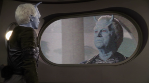 But the Andorians want it for themselves. Awww. Even though it was really obvious they were up to something, I was really hoping they were just there to help. His cover story made sense.