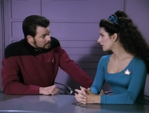 """Troi says she """"didnt sense any deception from her"""""""