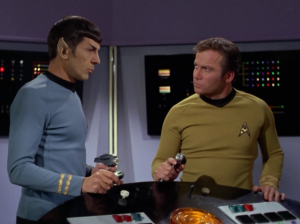 Eventually Spock manages to free Kirk from his room, but when they reach Scotty, Kirk realizes this is part of Garth's plan
