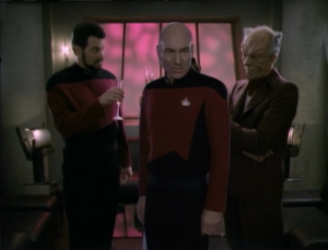 Then Picard, Geordi and Data figure out what really happened. The scientist was up to no good!