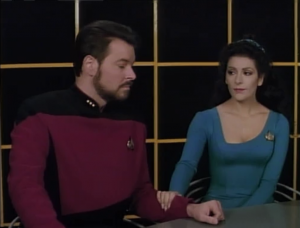 So wait, that lady was completely lying. Why did Troi say she sensed no deception from her?