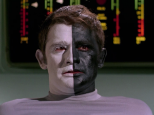 Enterprise finds a guy floating around in a Starfleet shuttle. He says he was just borrowing it